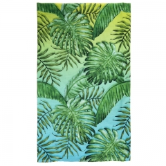 scarf  tropical leafs green ombre
