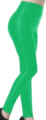 Fluorescent green PU Leggings