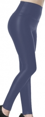 Navy blue PU Leggings