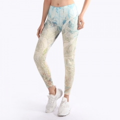 leggings Old flowers ornaments