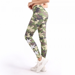Leggings camo green stars